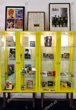 Stock Picture of Beatles memorabilia