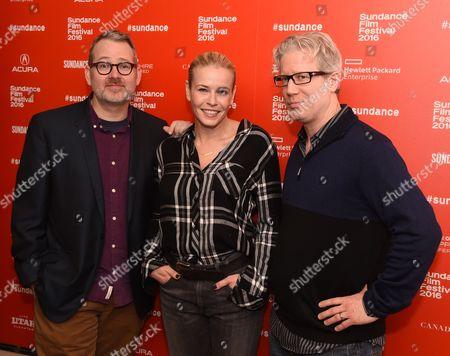 Stock Picture of Morgan Neville, Chelsea Handler, and Eddie Schmidt