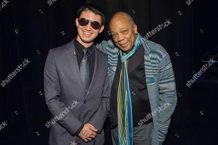 Justin Kauflin and Quincy Jones