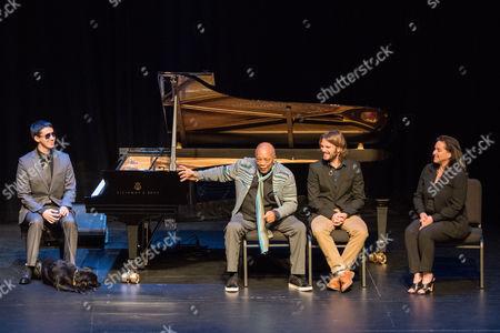 Justin Kauflin, Quincy Jones, Alan Hicks, and Patti Wolff