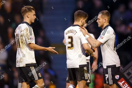 Alex Kacaniklic of Fulham is substituted off and replaced by George Williams during the SkyBet Championship match between Fulham and Hull City played at Craven Cottage Stadium, London on January 23rd 2016