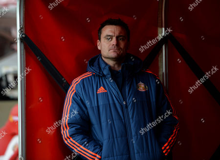 Steve Harper of Sunderland watches the warm up at Stadium of Light during the Barclays Premier League match between Sunderland and Bournemouth played at Stadium of Light, Sunderland, on the 23rd January 2016