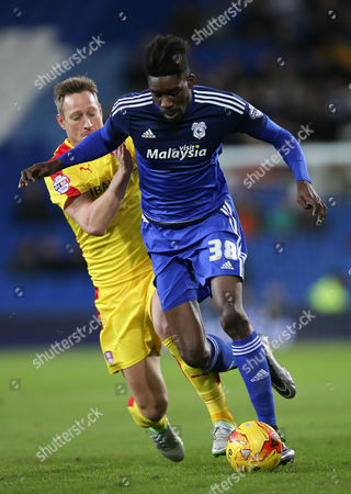 Stock Image of Sammy Ameobi of Cardiff City gets past Luciano Becchio of Rotherham