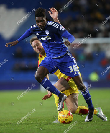 Stock Picture of Sammy Ameobi of Cardiff City gets past Luciano Becchio of Rotherham