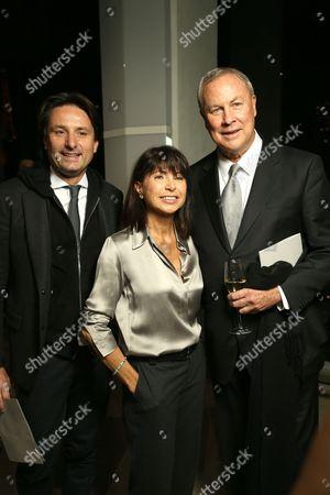Veronique Nichanian (C) with guests backstage