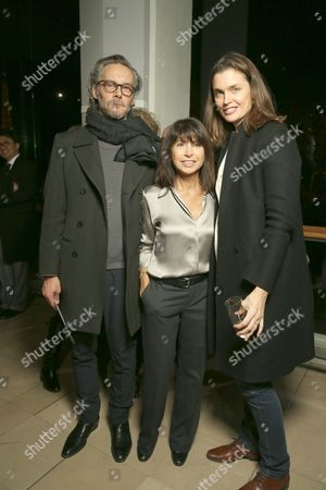 Veronique Nichanian (C) with guests