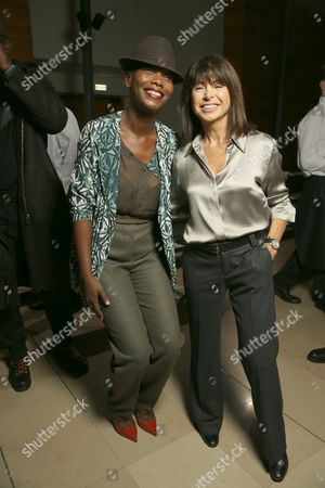Veronique Nichanian (R) with guest