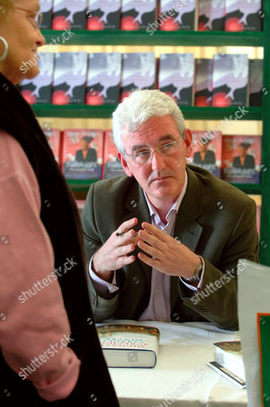 Michael Burleigh signing copies of his book 'Earthly Powers, Sacred Causes' - 10 Oct