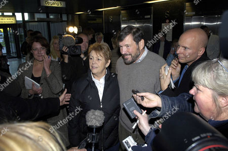 Editorial photo of JOHN DONALDSON AND SUSAN MOODY VISITING PRINCESS MARY AND HER NEWBORN BABY AT THE 'RIGSHOSPITALET', COPENHAGEN, DENMARK - 16 OCT 2005