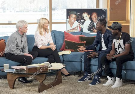 Phillip Schofield and Holly Willoughby with Reggie 'n' Bollie