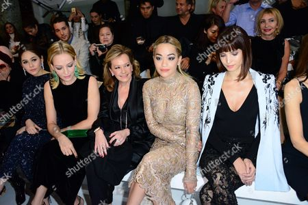 Stock Photo of Araya A. Hargate, Uma Thurman, guest, Rita Ora and Hanaa Ben Abdesslem