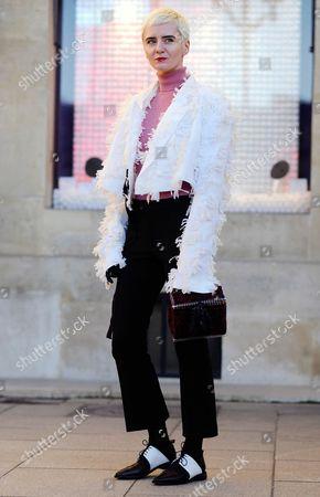Olga Yanul arrival for Maison schiaparelli Paris Couture Fashion Week