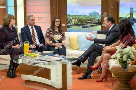 Lindsey Scott, (Director of Nursing & Quality at NHS England), Dr Hilary Jones and Melissa Mead who is holding a Teddy Bear which contains the ashes of her son sitting with Piers Morgan and Susanna Reid