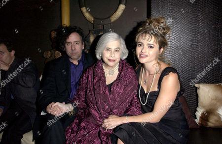 Tim Burton, Elena Wynnona and Helena Bonham Carter