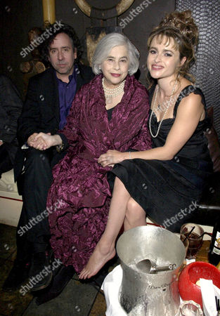 Stock Image of Tim Burton, Elena Wynnona and Helena Bonham Carter