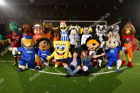 Team Mascots, SpongeBob SquarePants, Roman Kemp, Rachel Stringer