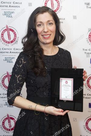 Anna Fleischle accepts the award for Best Designer for Hangmen