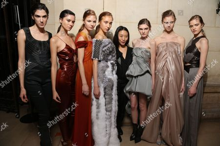 Yiqing Yin and models backstage