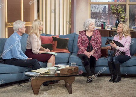 Phillip Schofield and Holly Willoughby with Anna May Mangan and Anna Webb