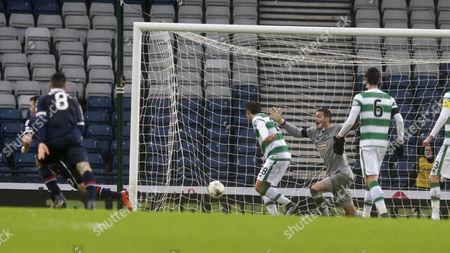 31/01/16... HAMPDEN PARK - GLASGOW Ross County v Celtic.  Utilita League cup semi final. Paul Quinn goal