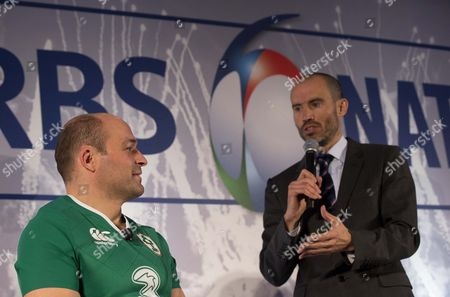 Ireland captain Rory Best with Andrew Cotter