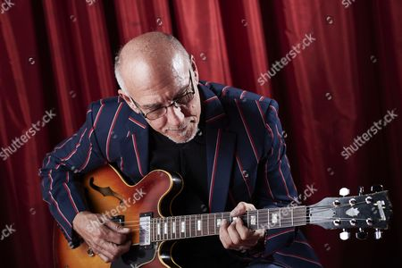 Stock Picture of Cardiff United Kingdom - June 17: Portrait Of American Jazz Guitarist Larry Carlton Photographed Before A Live Performance At The Glee Club In Cardiff On June 17