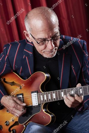Stock Photo of Cardiff United Kingdom - June 17: Portrait Of American Jazz Guitarist Larry Carlton Photographed Before A Live Performance At The Glee Club In Cardiff On June 17