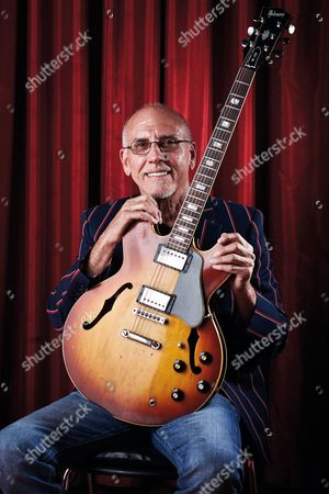 Cardiff United Kingdom - June 17: Portrait Of American Jazz Guitarist Larry Carlton Photographed Before A Live Performance At The Glee Club In Cardiff On June 17