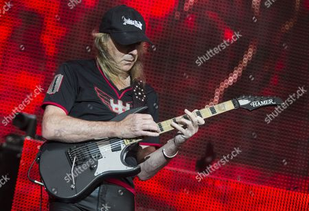 Castle Donington United Kingdom - June 12: Guitarist Glenn Tipton Of British Heavy Metal Group Judas Priest Performing Live On The Main Stage At Download Festival On June 12