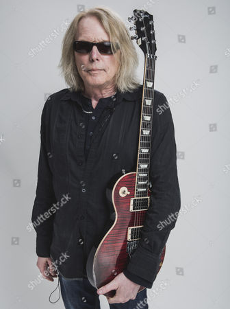 Castle Donington United Kingdom - June 13: Guitarist Scott Gorham Of Rock Group Black Star Riders Photographed Backstage At Download Festival On June 13