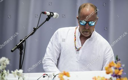 Castle Donington United Kingdom - June 13: Keyboardist Roddy Bottum Of American Hard Rock Group Faith No More Performing Live On The Main Stage At Download Festival On June 13