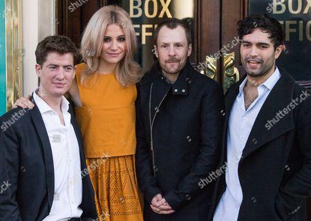 Matt Barber, Pixie Lott, Director Nikolai Foster and Charlie De Melo