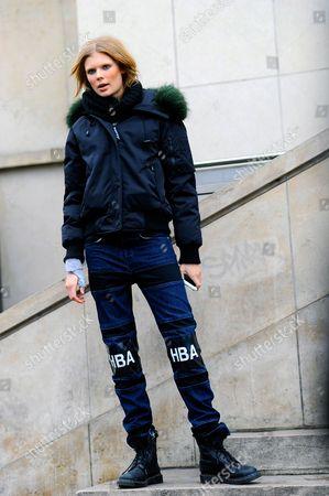 Alexandra Elizabeth Ljadov after Elie Saab Haute Couture SS16, 2016 Palais de Chaillot