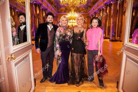 Yulia and Daria Yanina, Anna Netrebko and her husband Yusif Eyvazovat