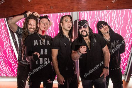 Stock Photo of HellYeah - Tom Maxwell, Vinnie Paul, Chad Gray, Kyle Sanders, Christian Brady