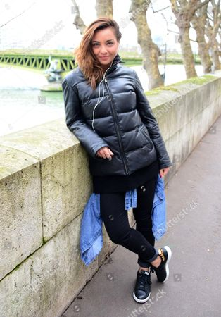 Editorial picture of Priscilla Betti out and about, Paris, France - 27 Jan 2016