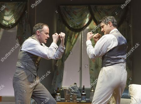 Stock Picture of Richard Teverson as Victor, Tom Chambers as Elyot,