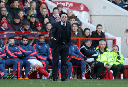 Nottingham Forest Manager, Dougie Freedman gives instructions during the Emirates FA Cup 4th round match between Nottingham Forest and Watford played at City Ground, Nottingham on January 30th 2015