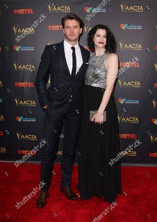 Stock Photo of Thomas Cocquerel and Jessica De Gouw