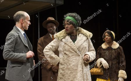 Finbar Lynch as Irvin, Tunji Lucas as Sylvester, Sharon D Clarke as Ma Rainey, Tamara Lawrance as Dussie Mae