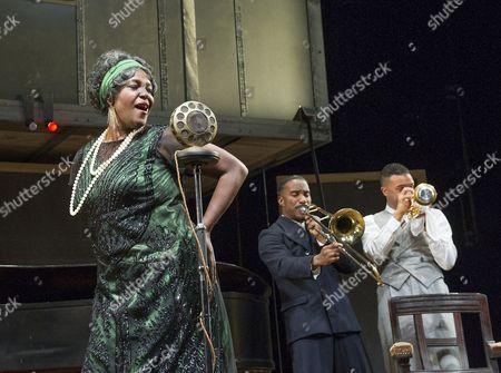 Sharon D Clarke as Ma Rainey, Clint Dyer as Cutler, O-T Fagbenle as Levee
