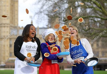 Editorial picture of Rehab Parliamentary Pancake Race Launch photocall, Victoria Tower Gardens, London, Britain - 01 Feb 2016