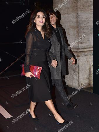 Serena Rossi and Davide Devenuto