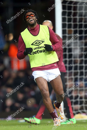 Alexandre Song of West Ham United before West Ham United vs Aston Villa, Barclays Premier League Football at the Boleyn Ground, London