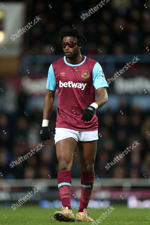 Alexandre Song of West Ham United during West Ham United vs Aston Villa, Barclays Premier League Football at the Boleyn Ground, London