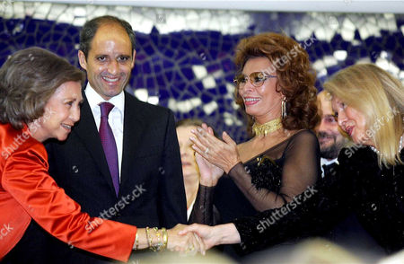 Queen Sofia, Francisco Camps, Sofia Loren and Nancy Kovack wife of Zubin Mehta