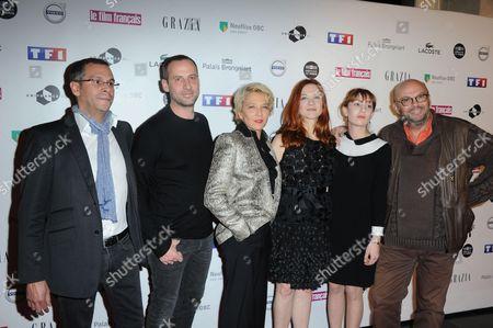 Jean-Benoit Gillig, Fred Testot, Micky Sebastian, Odile Vuillemin, Lolita Chammah and Claude-Michel Rome