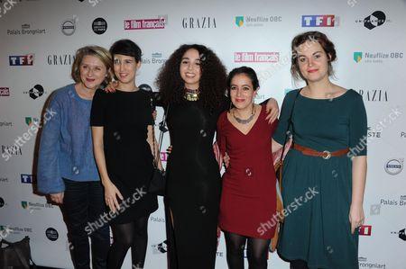 Stock Image of Leyla Bouzid, Baya Medhaffar and guests