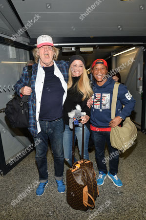 Editorial photo of Return of celebrities from 'I Am a Star - Get Me Out of Here' RTL TV Programme to Frankfurt Airport, Germany  - 02 Feb 2016