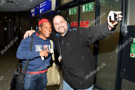 Stock Picture of Ricky Harris with fan